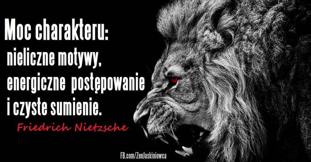 Czyżby Nietzsche mówił: Decyzja. Jasność. Spójność. Żądanie?
